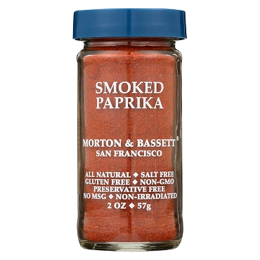 Morton & Bassett Smoked Paprika , 2 Oz, Case of 3 - 2 Oz Glass Jars